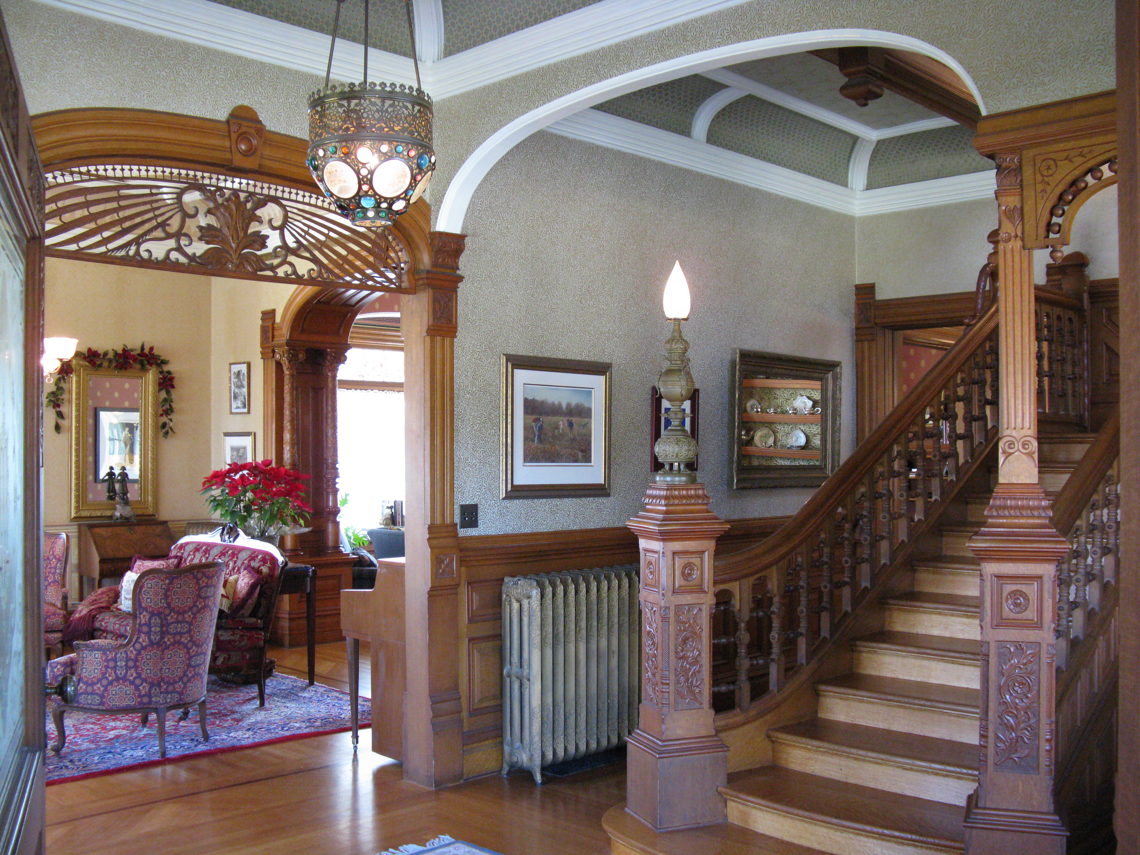 Inside Decor And Design File Morey Mansion Foyer Jpg Wikimedia Commons