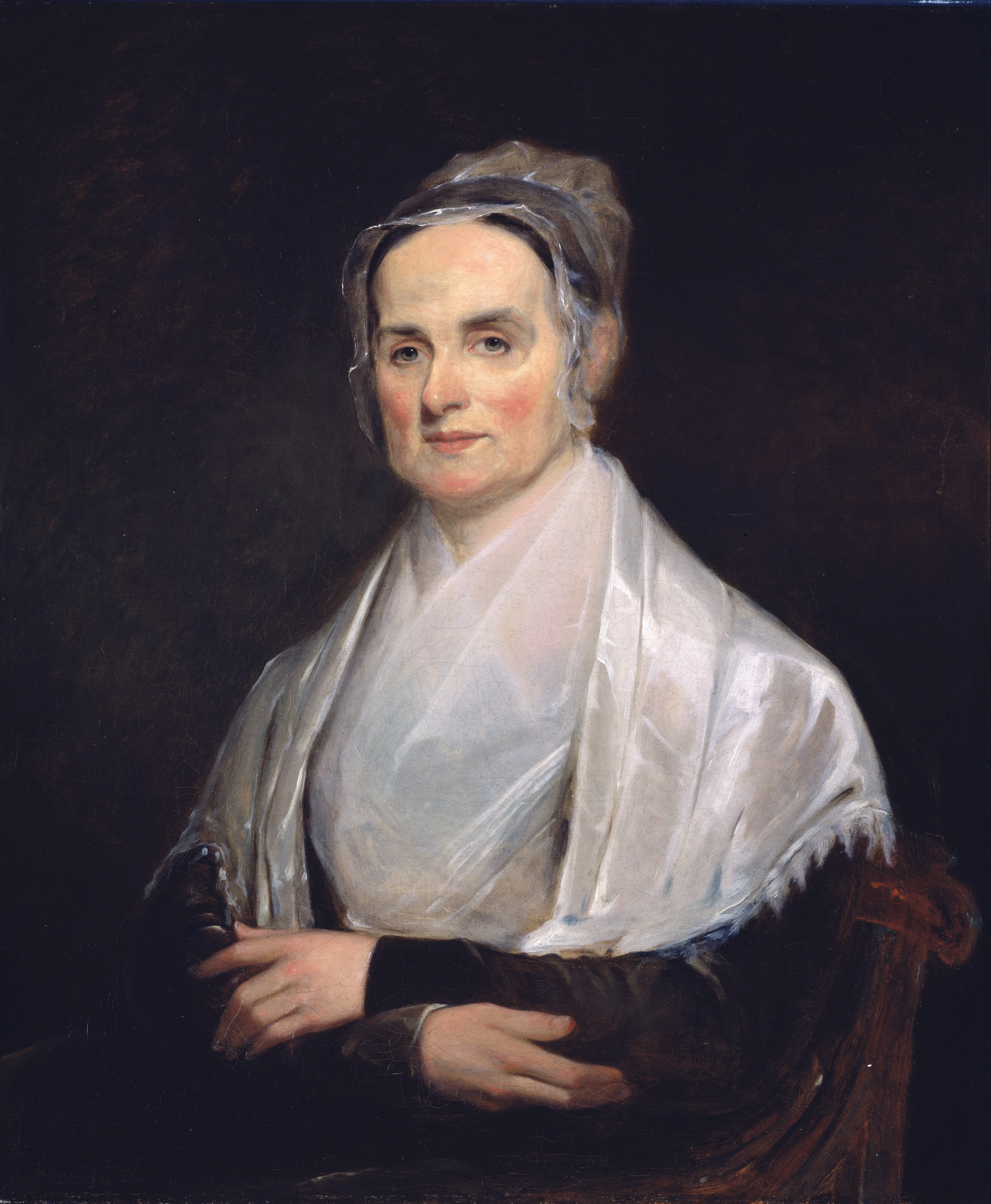 Lucretia Mott at the age of 49 (1842), at the [[National Portrait Gallery (United States)|National Portrait Gallery]] in [[Washington, D.C.]]