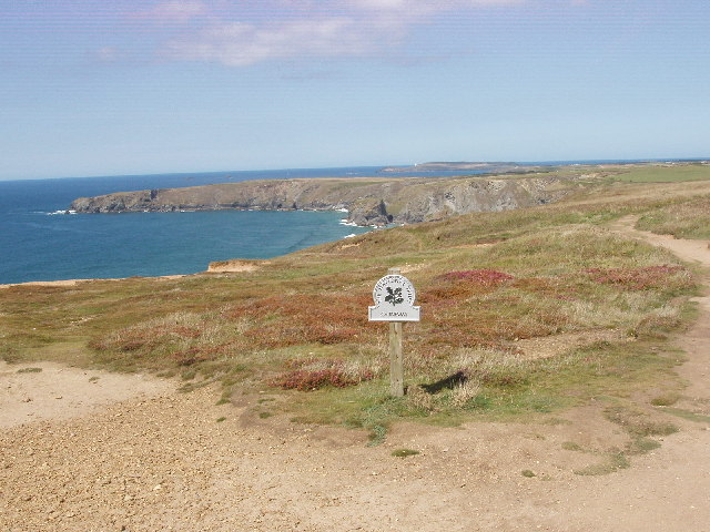 National Trust sign for Carnewas, by Bedruthan Steps - geograph.org.uk - 50433