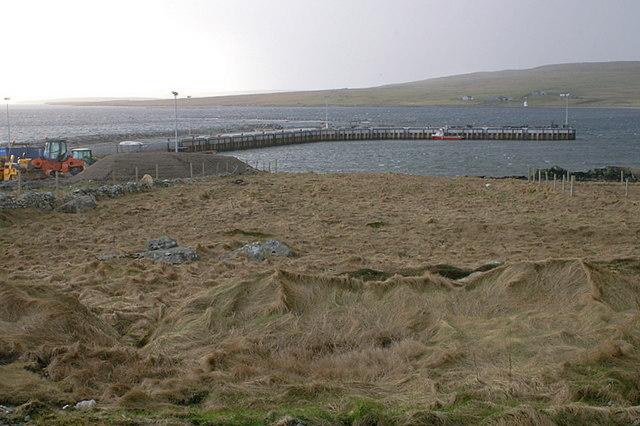 File:New pier at Uyeasound, March 2009 - geograph.org.uk - 1215549.jpg