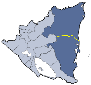 Location of Zelaya department