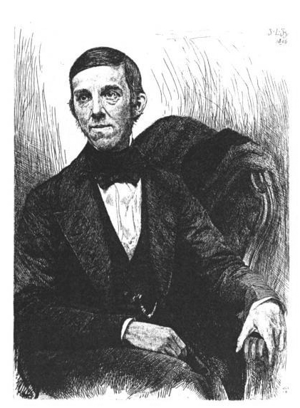 Engraving of author Oliver Wendell Holmes, Sr. from ''Life and Letters of Oliver Wendell Holmes'' by John Torrey Morse, published by Houghton, Mifflin and company, 1896