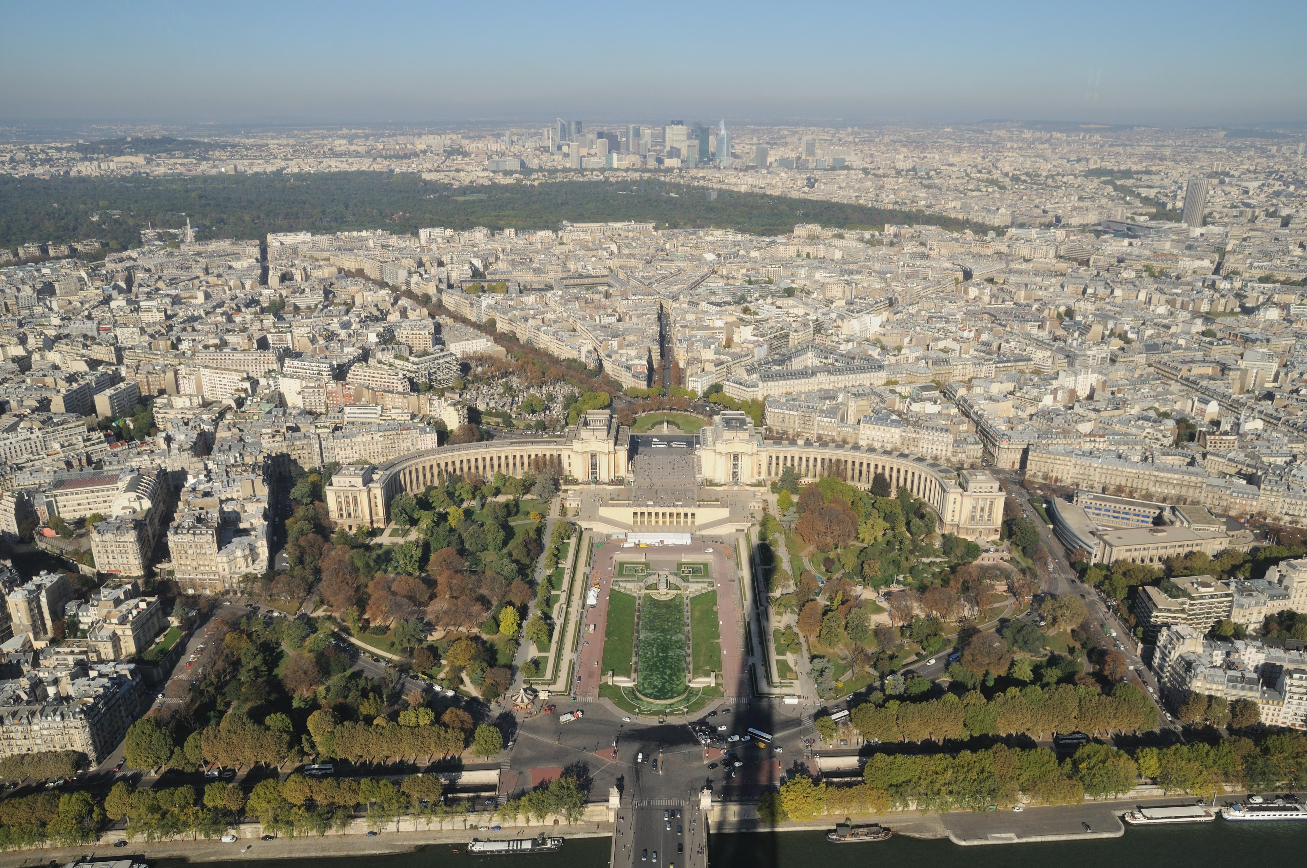 File paris blick vom eiffelturm auf den jardins du trocad wikimedi - Congeler des aubergines du jardin ...