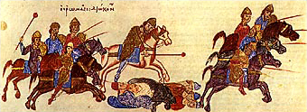 Датотека:Persecution of Russ by the Byzantine army John Skylitzes.jpg
