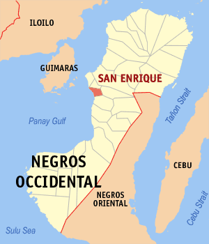 Map of Negros Occidental showing the location of San Enrique