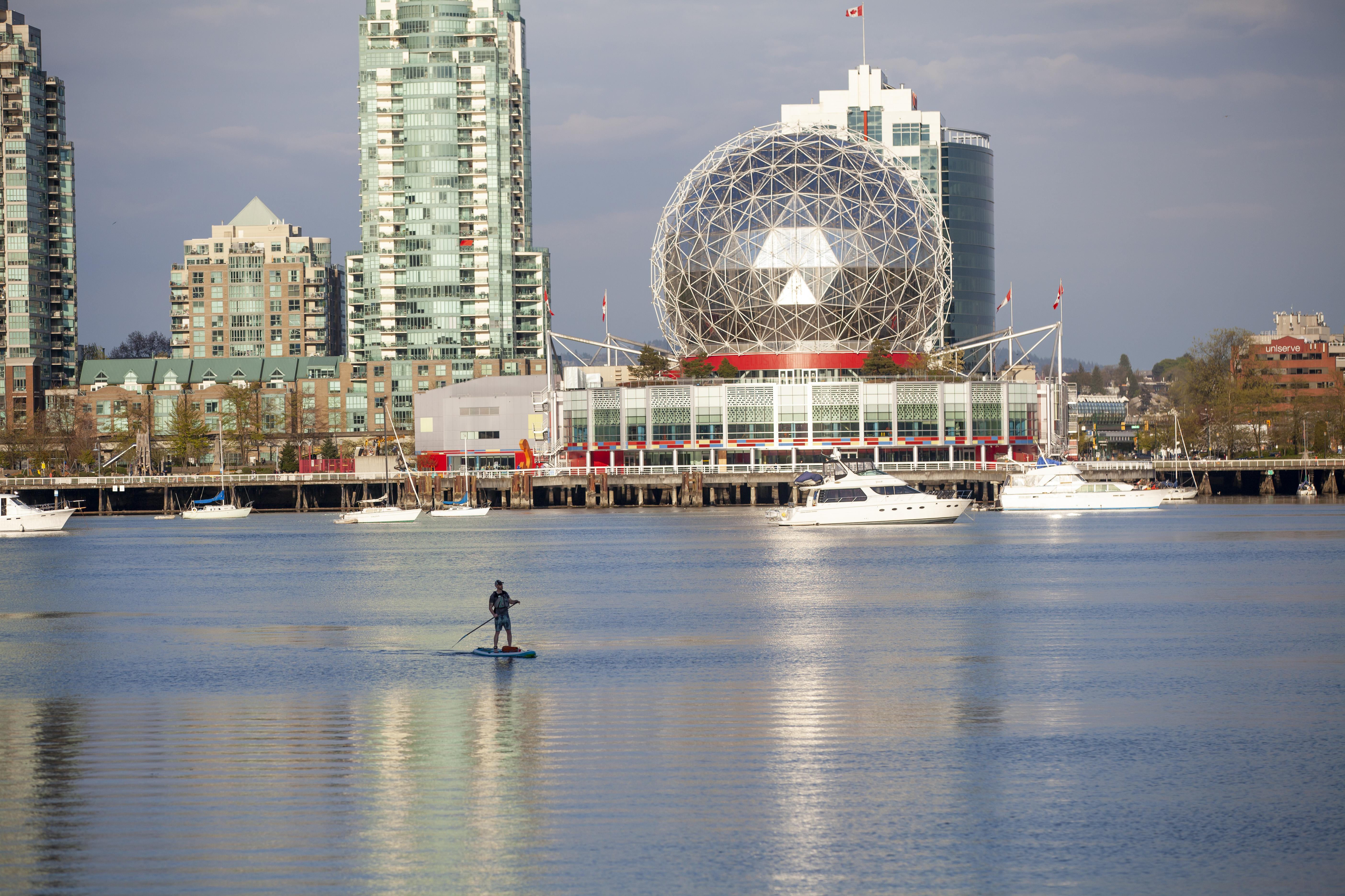 SUP with Science World, Yaletown Vancouver during coronavirus pandemic (49791278671).jpg