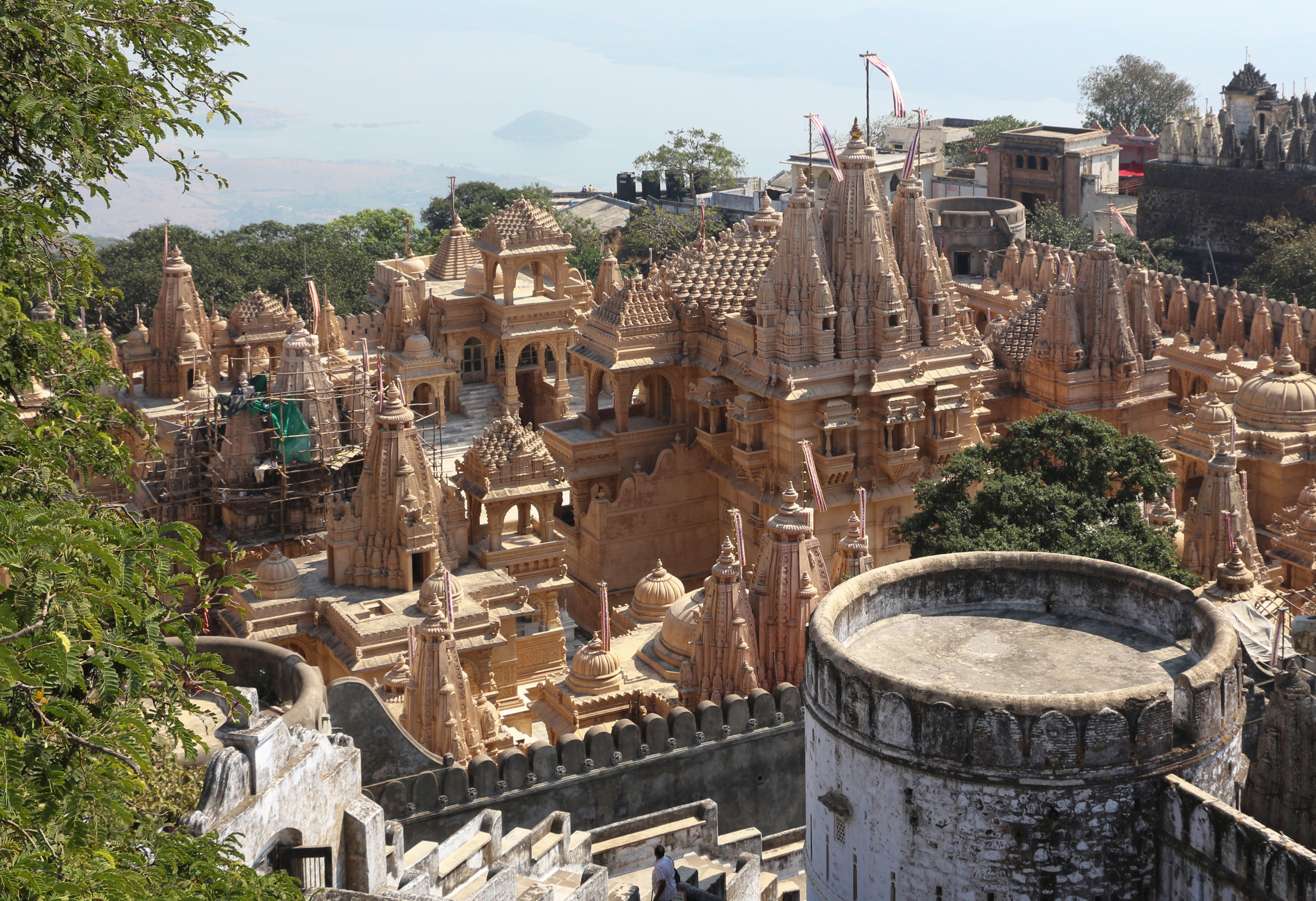 shatrunjay palitana The views of shatrunjay river and the sunrise etc are beautiful even if its crowded the whole temple complex gives a lot of inner peace a must visit for anyone who is visiting gujarat.