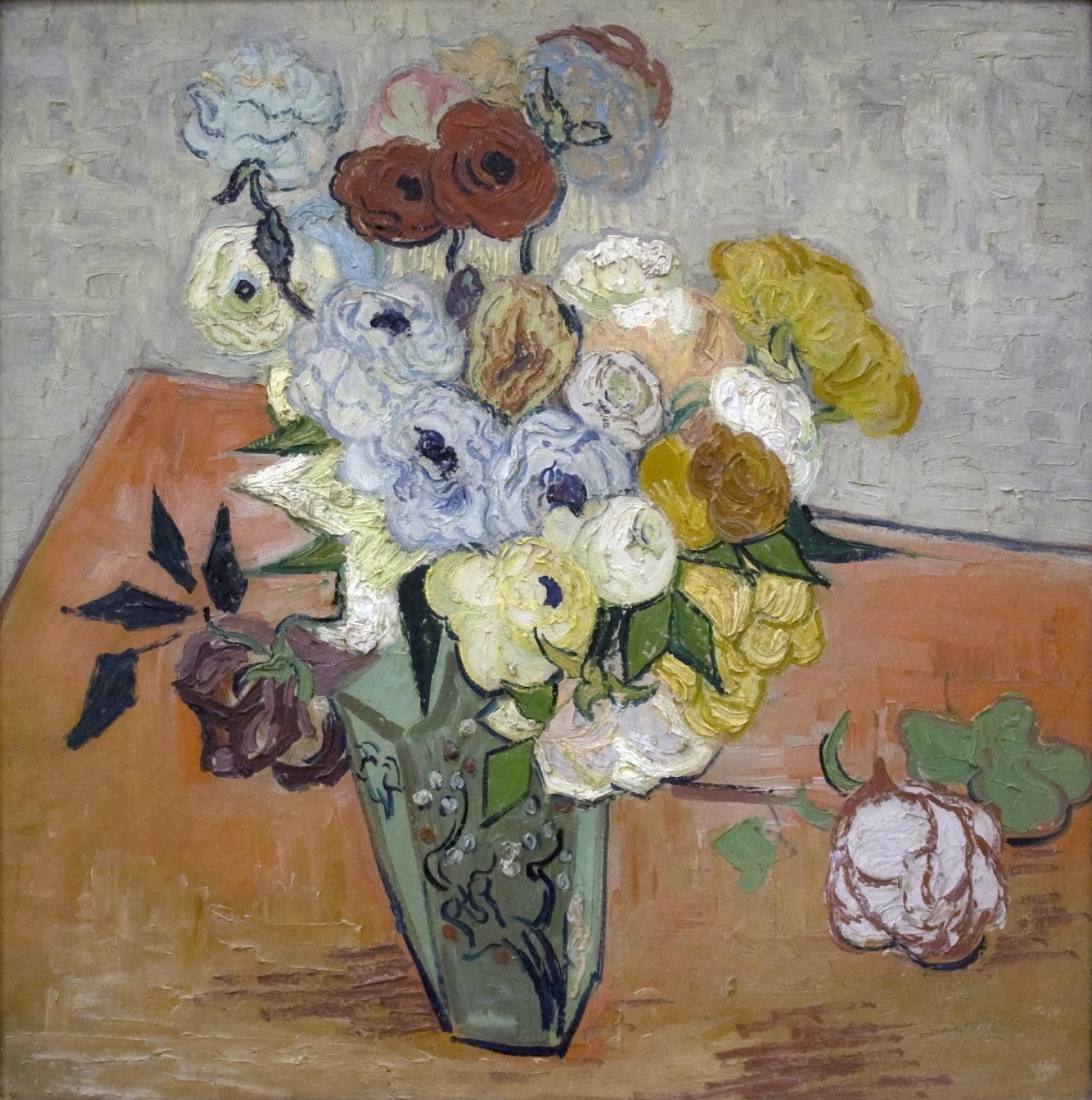 FileStill Life , Japanese Vase with Roses and Anemones