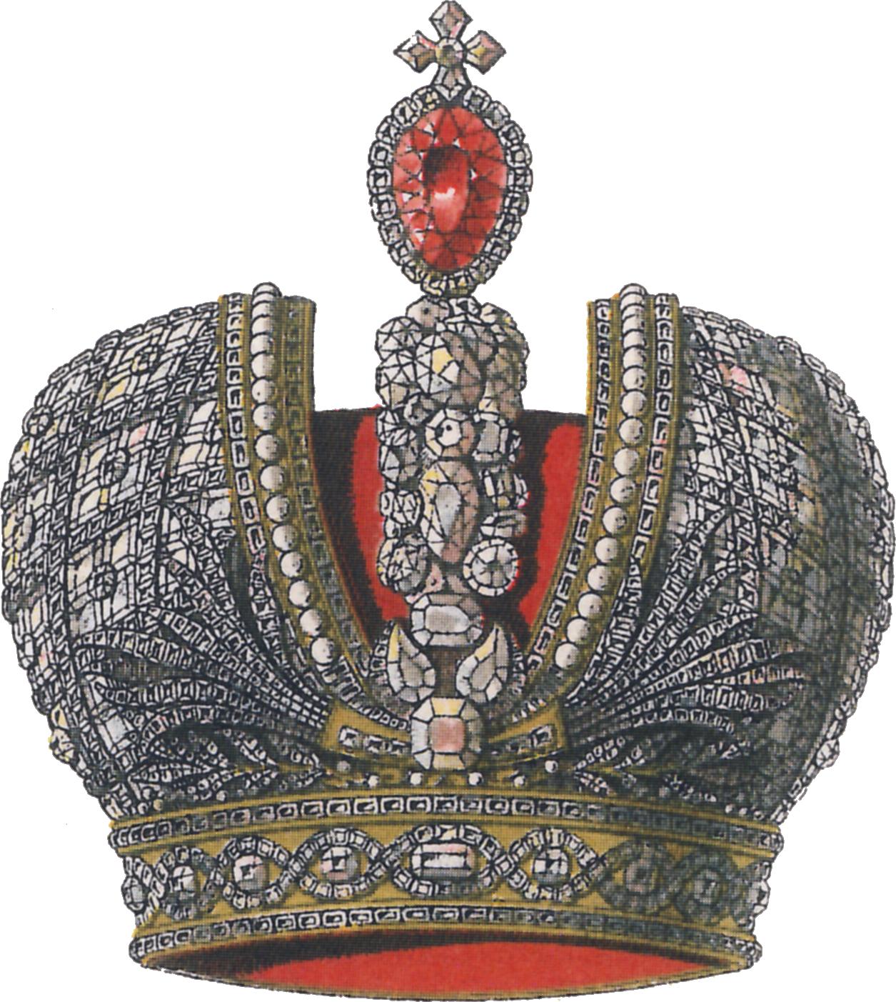 Hugo Gerard Ströhl: Heraldische Zeichnung der Zarenkrone des Russischen Reiches