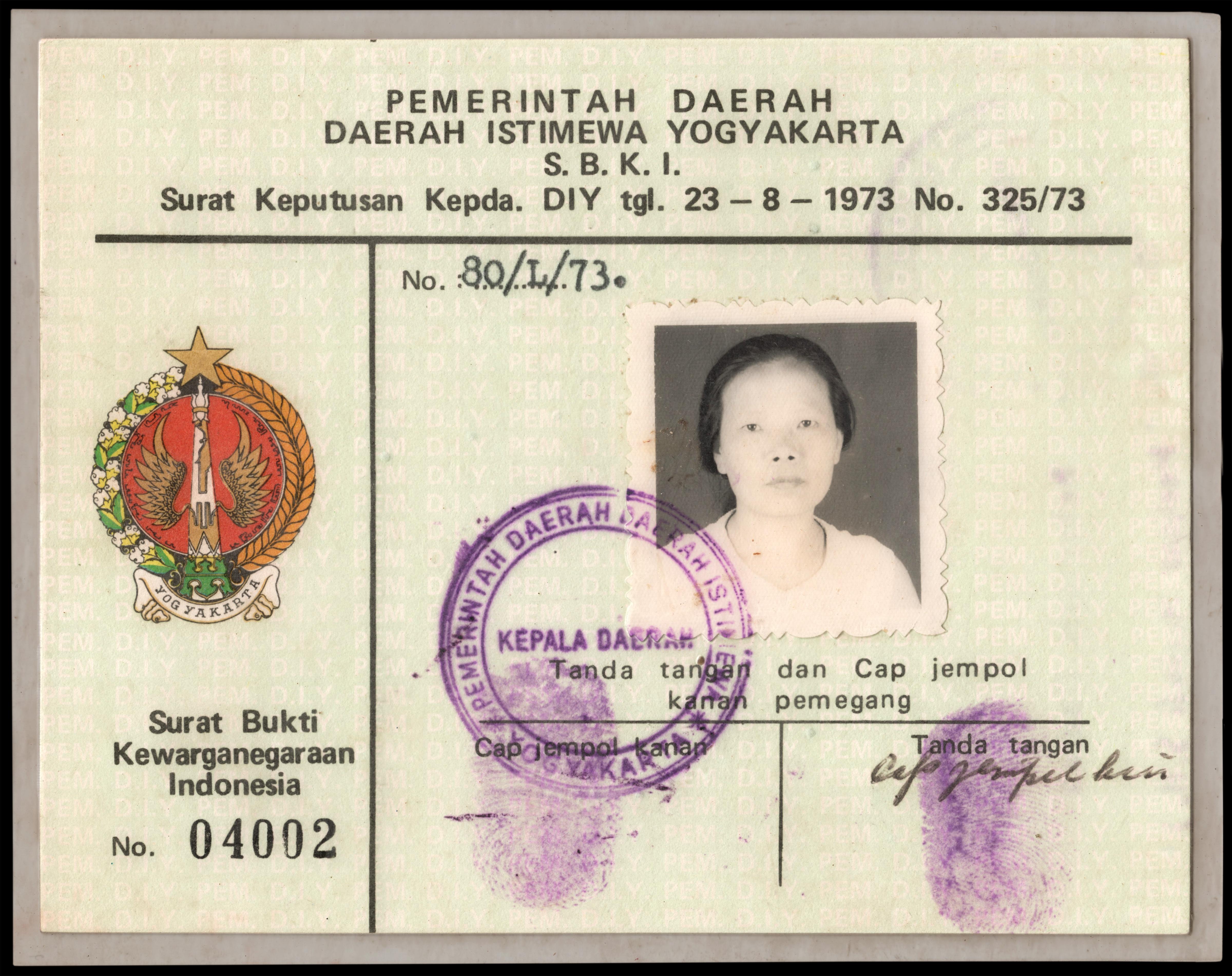 Filesurat Bukti Kewarganegaraan Indonesia From  Obverse Jpg