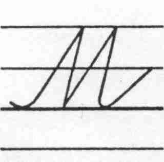 Sv Cursive Capital Letter M