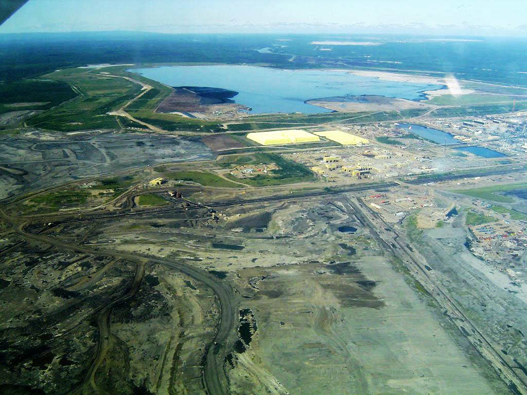 This is the Syncrude Tailings Dam in Alberta, Canada. It is the largest dam in the world( amount of material to build dam).