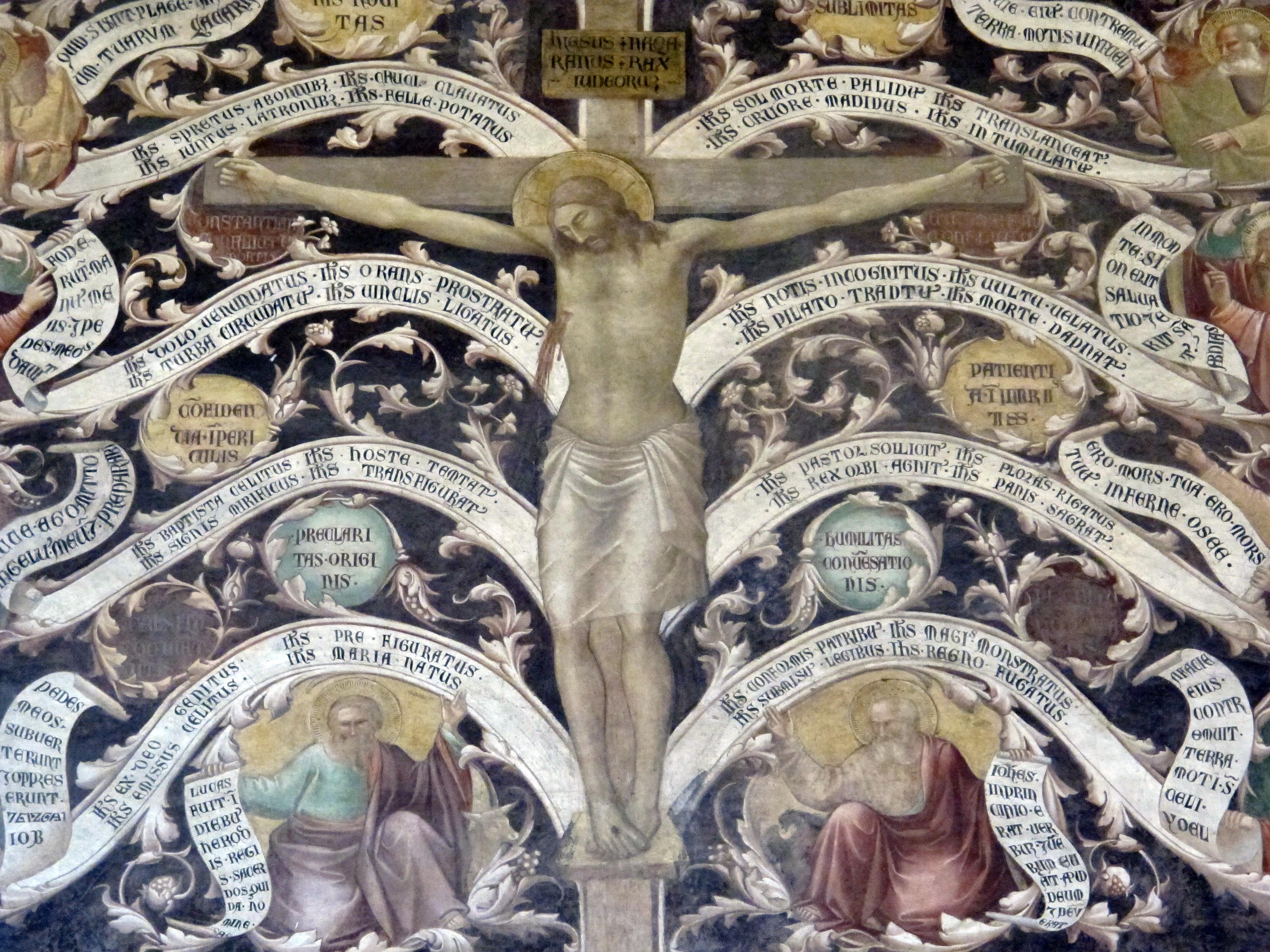 Taddeo Gaddi, Albero della Vita, (particolare), Basilica di Santa Croce, Firenze