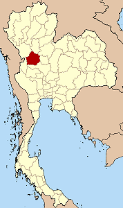 Map of Thailand highlighting Kamphaeng Phet Province}