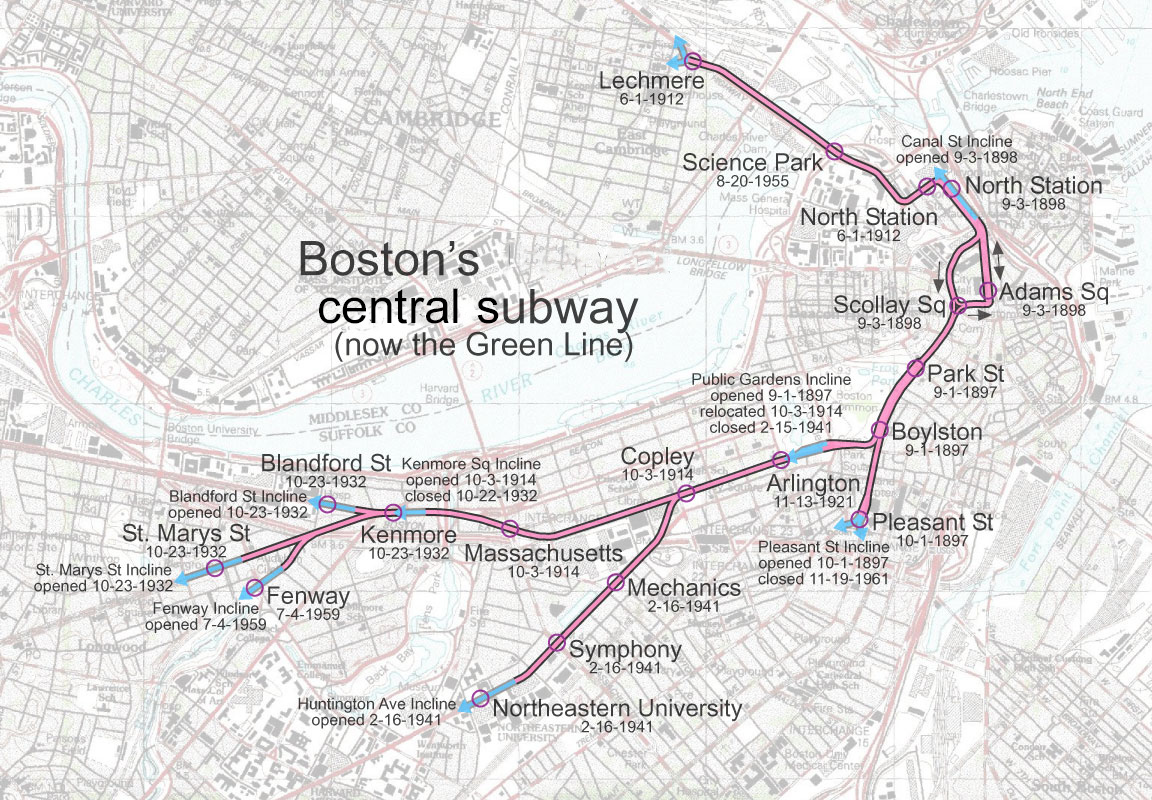 Boston Subway Map With Hotels.File Tremont Street Subway Jpg Wikipedia