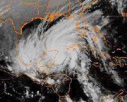 Tropical Storm Keith at Mexican landfall