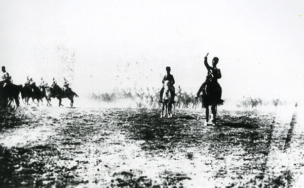 Cavalry galloping