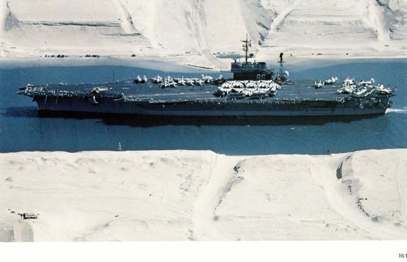 file uss america  cv-66  in the suez canal 1981 jpg