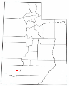 Location of Parowan, Utah