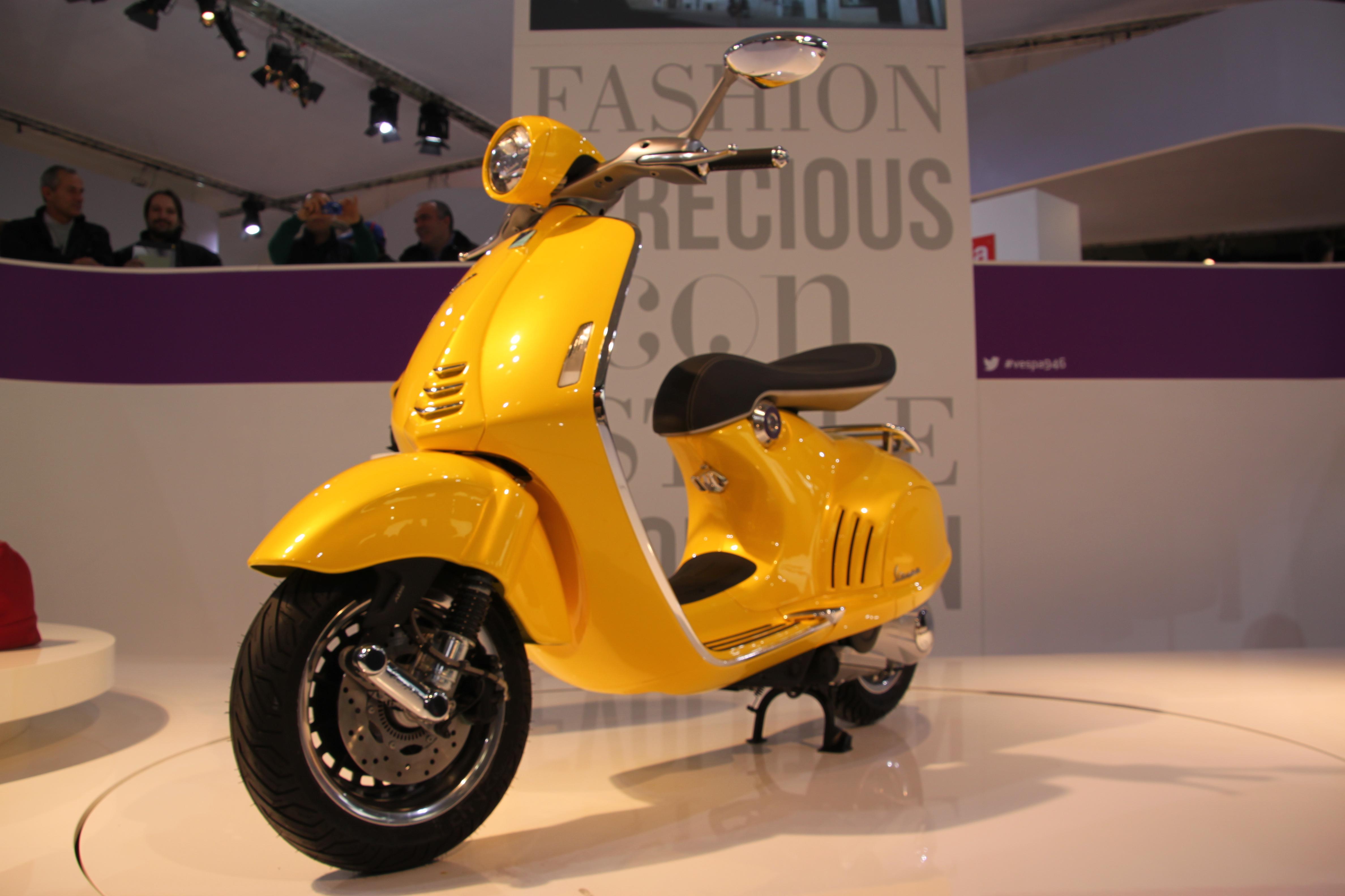 Vespa Yellow Scooty