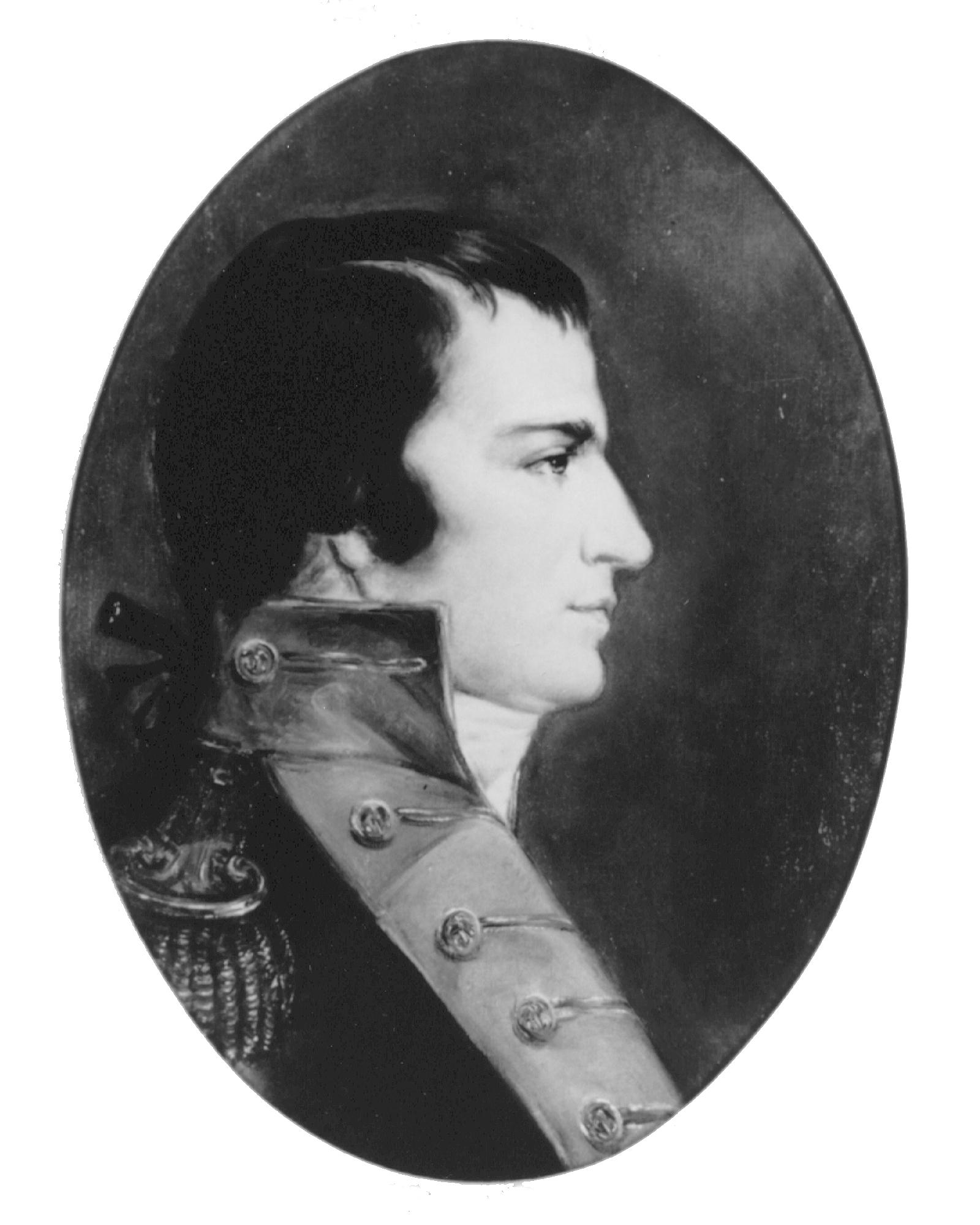 black & white portrait of William W. Burrows