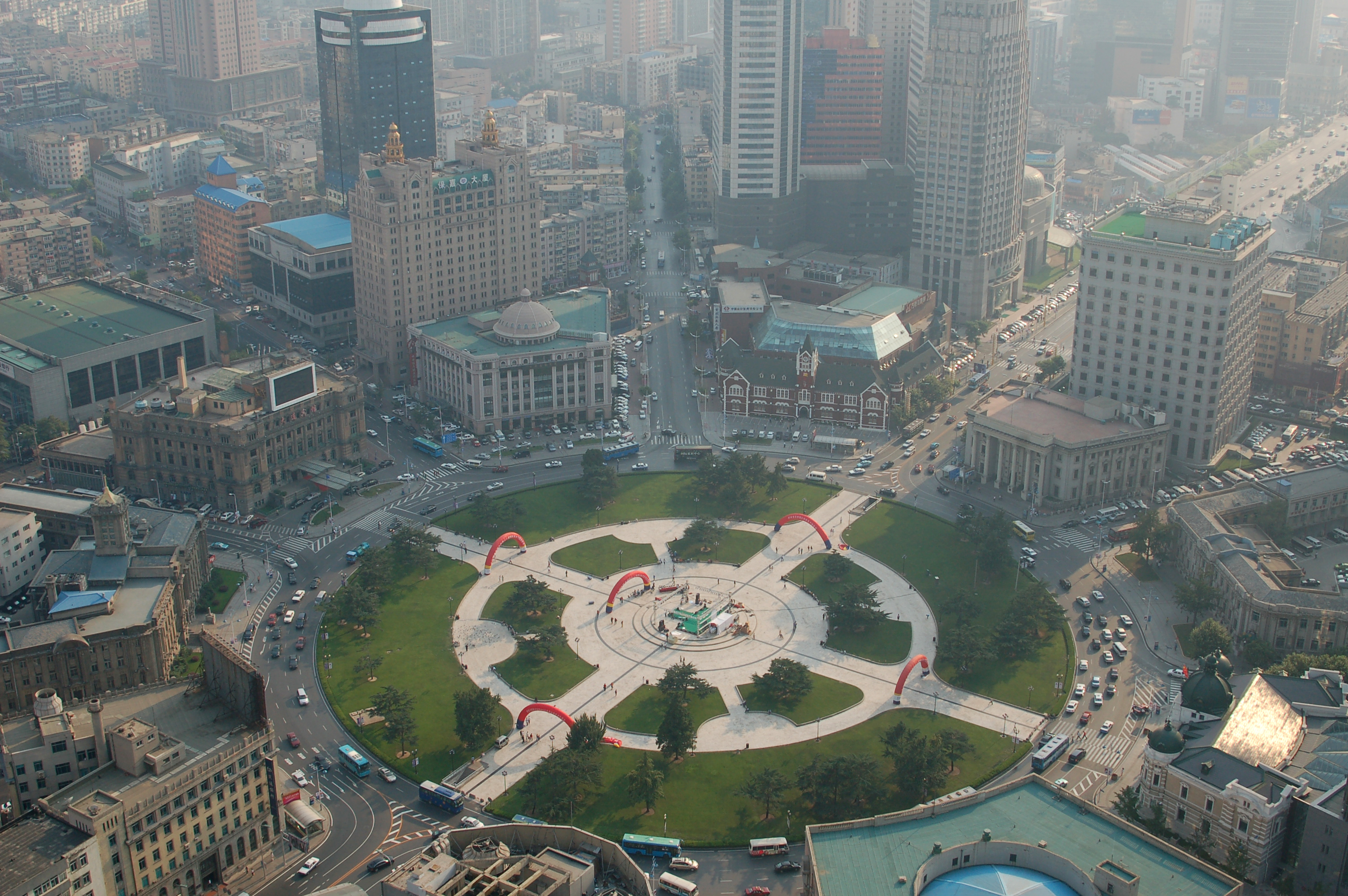 Zhongshan Square in the city of Dalian