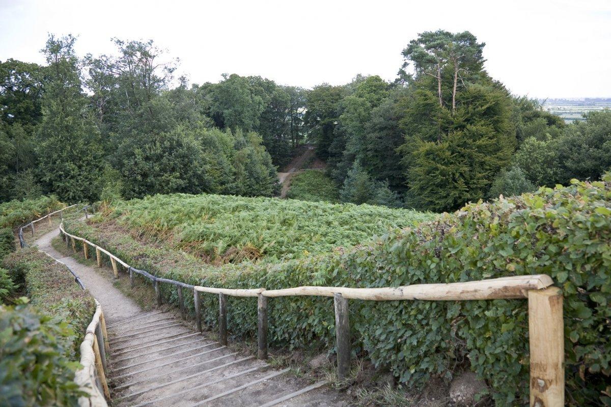 File zicht vanaf mottekasteel naar beneden met trap in natuurgebied de duivelsberg berg en - Beneden trap ...