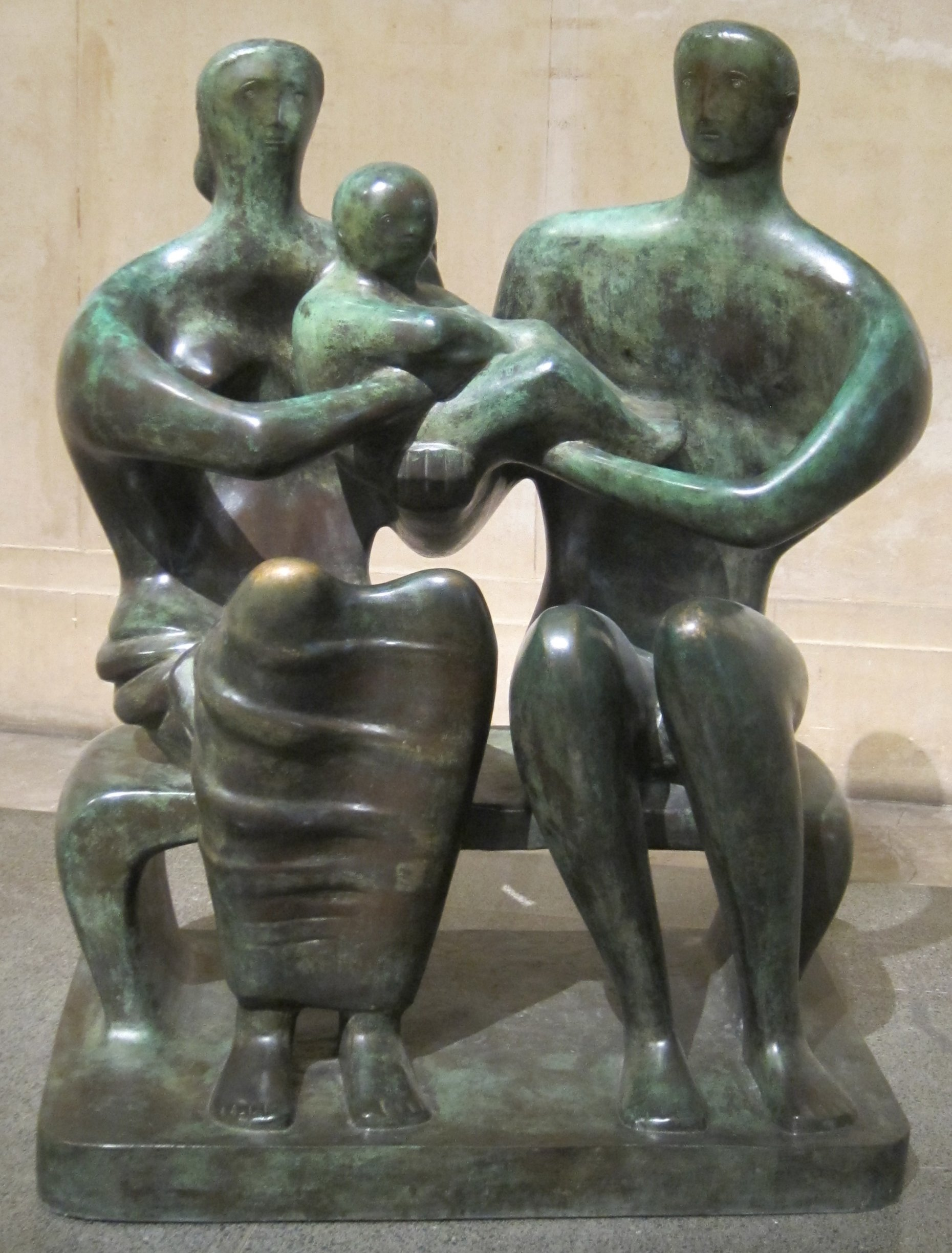 file family group bronze sculpture by henry moore 1949 tate
