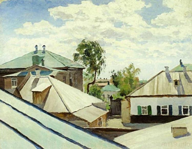 File:Борисов-Мусатов Виктор Эльпидифорович. Крыши. 1890.jpg