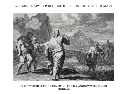 10 Mark's Gospel C. Jesus goes public image 2 of 2. Simon Peter and Andrew with Christ. Mortier