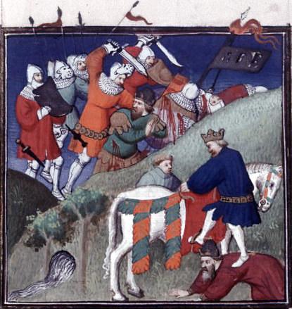 A 15th Century miniature depicting the Battle of Manzikert.