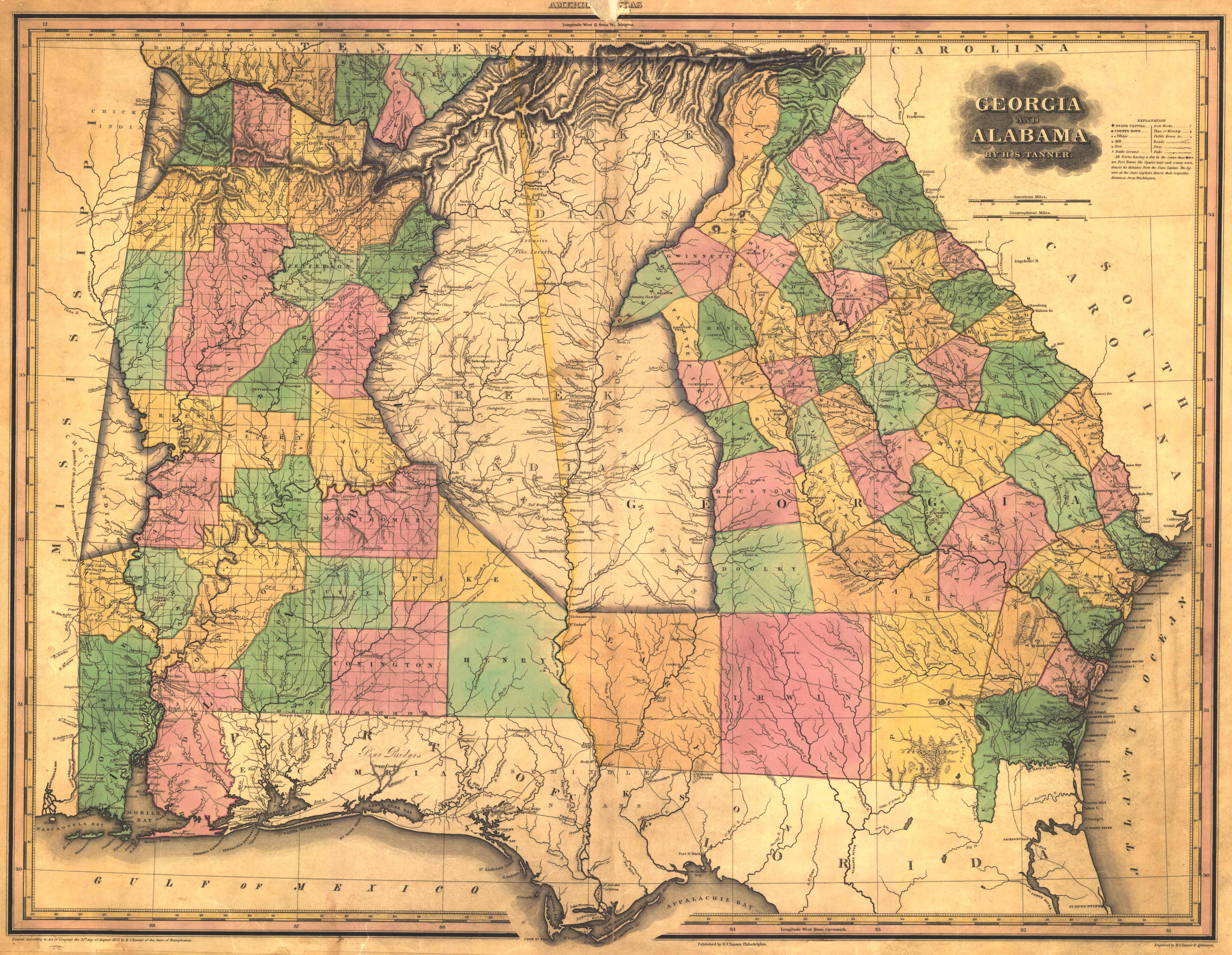 File 1823 Map of Alabama and Georgia counties Wikimedia mons