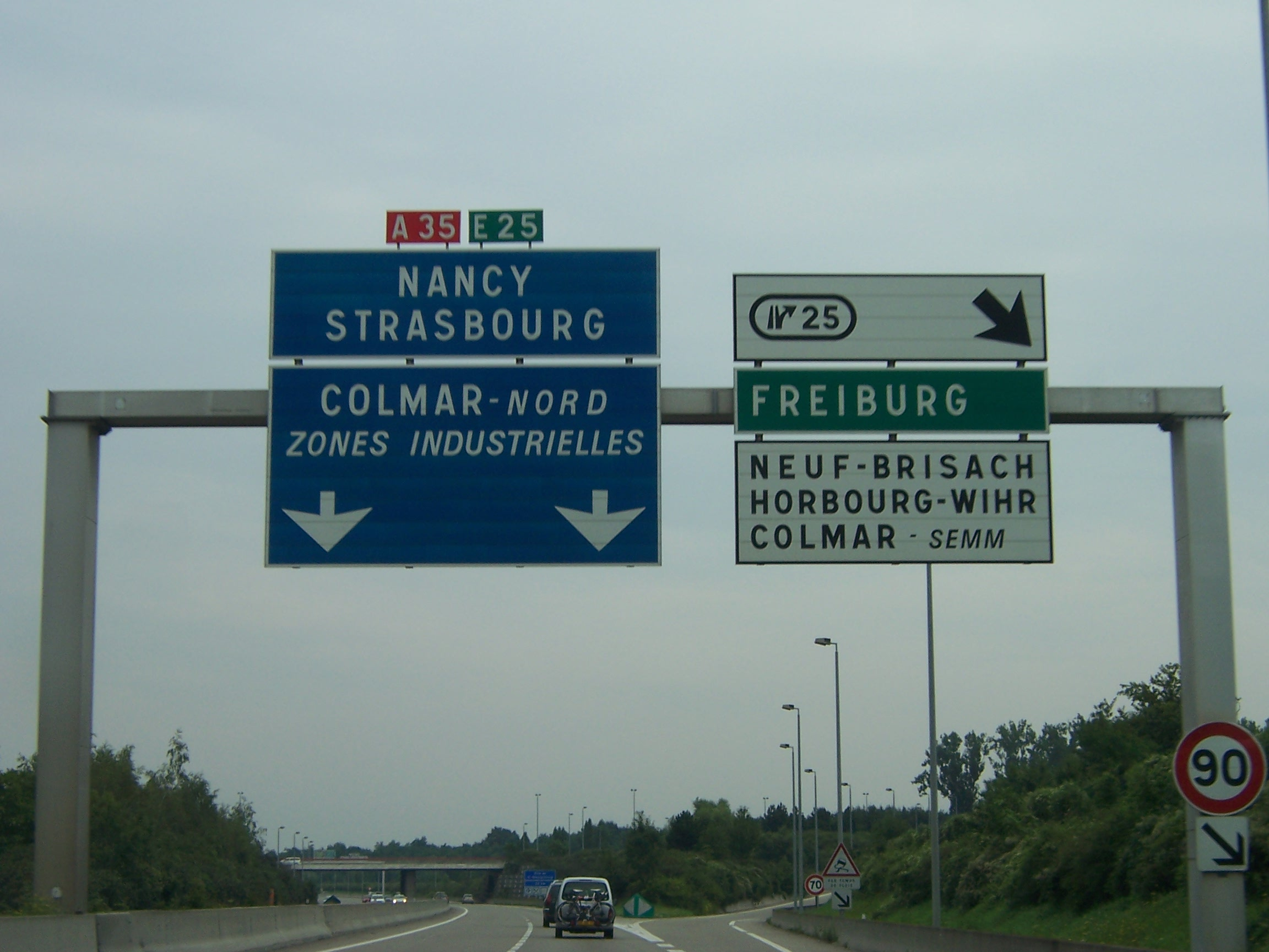 File a35 mulhouse vers strasbourg sortie for Salon des ce strasbourg