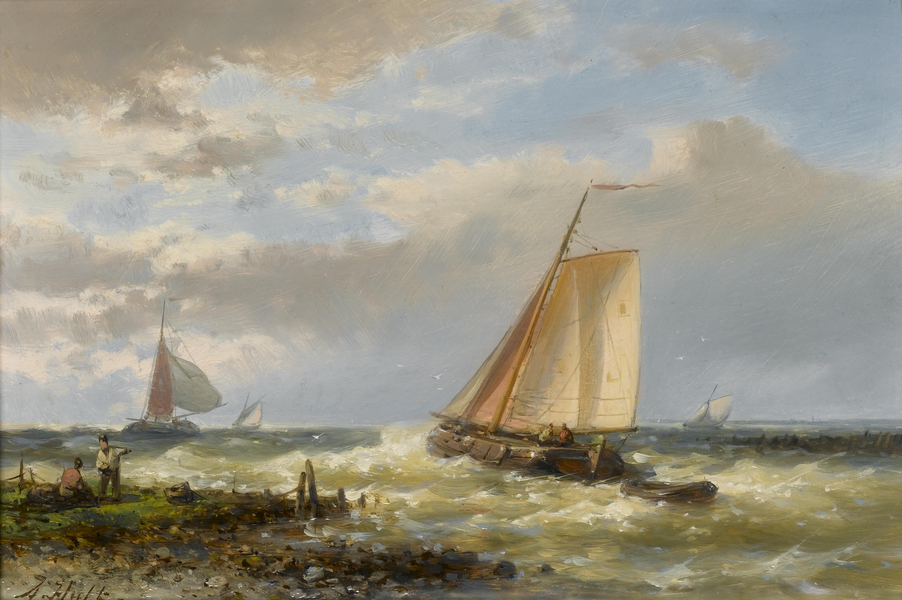 file abraham hulk fishing boats running out of port against the