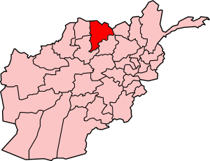 Map showing Balkh province in Afghanistan