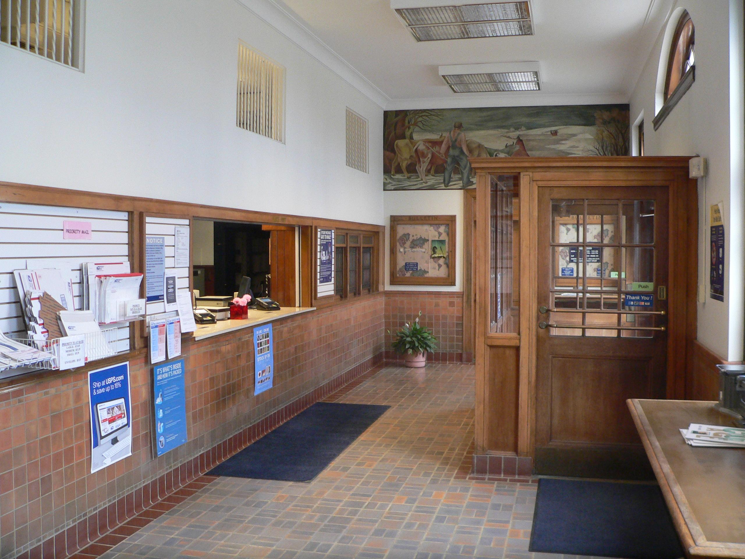 Description albion nebraska post office interior 2 jpg