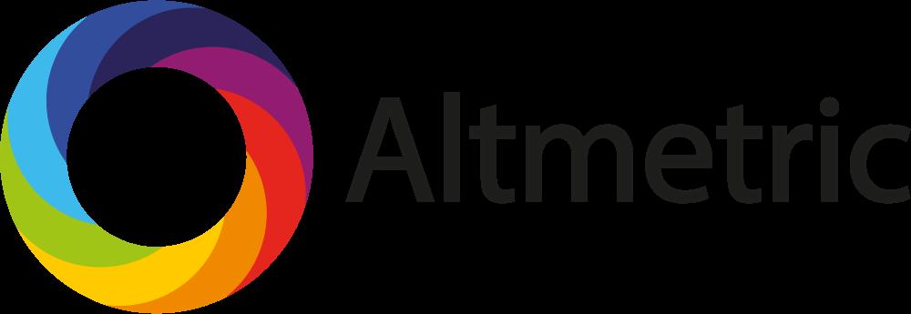 the word 'Altmetric' next to a rainbow circle