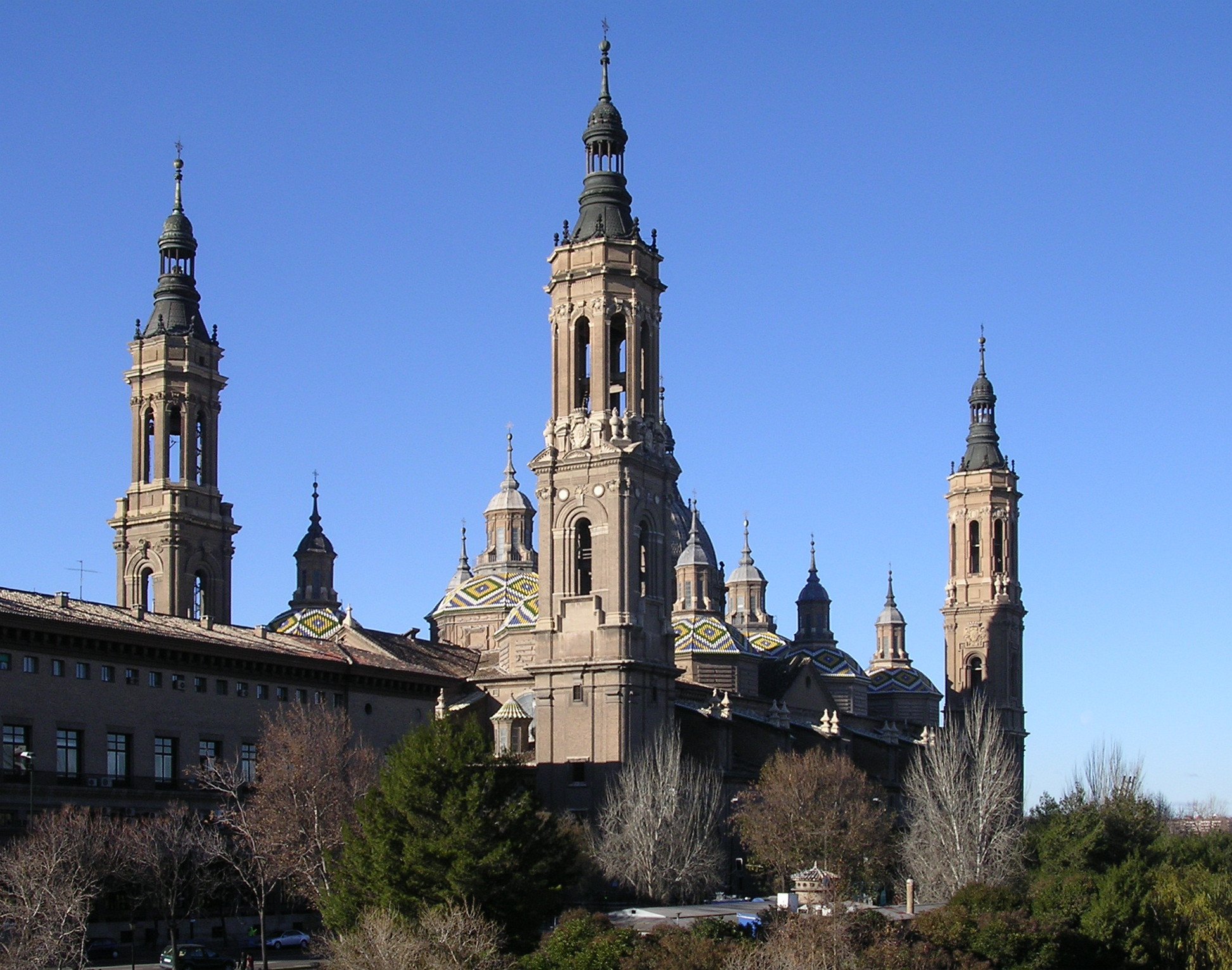 Architecture of cathedrals and great churches wikipedia the basilica of our lady of the pillar zaragoza spain is in the baroque style biocorpaavc Choice Image