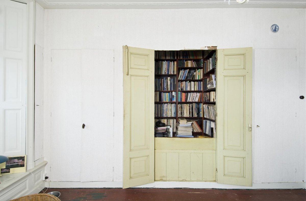 Boekenkast In Woonkamer : Ikea billy boekenkast hack in de woonkamer homease