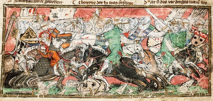 English: Battle between the Turks and the Crus...