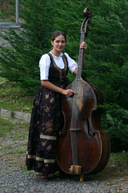 Double bass player from the Bunjevac minority group in Hungary