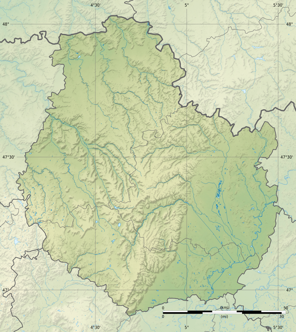 carte cote d or File:Côte d'Or department relief location map.   Wikimedia Commons
