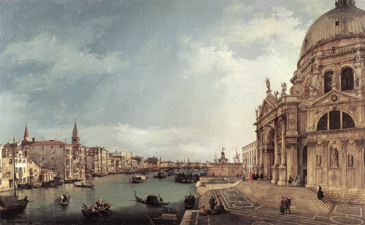 Art Print Canaletto Entrance To Grand Can