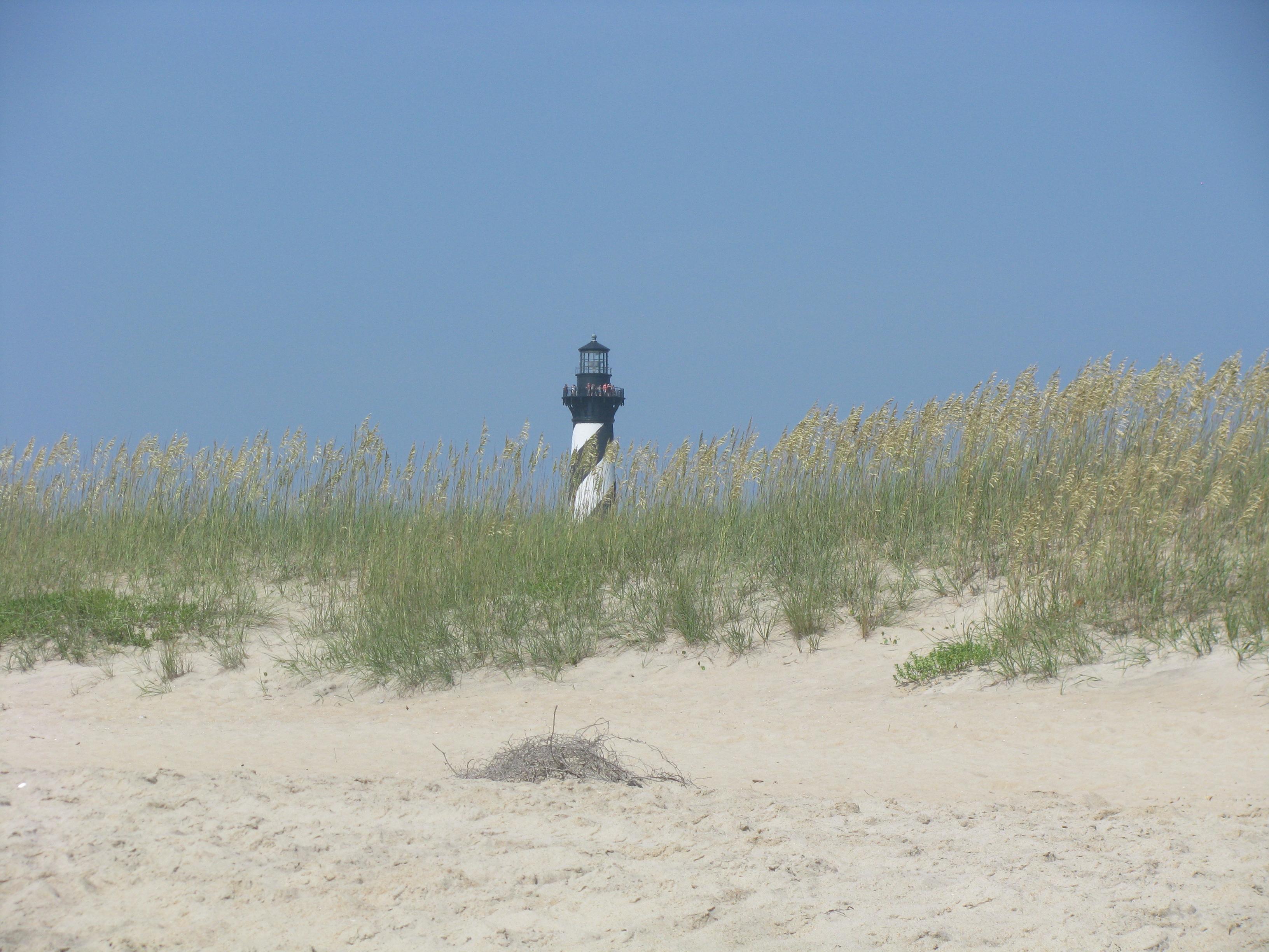 Cape Hatteras Lighthouse from beach 01.jpg