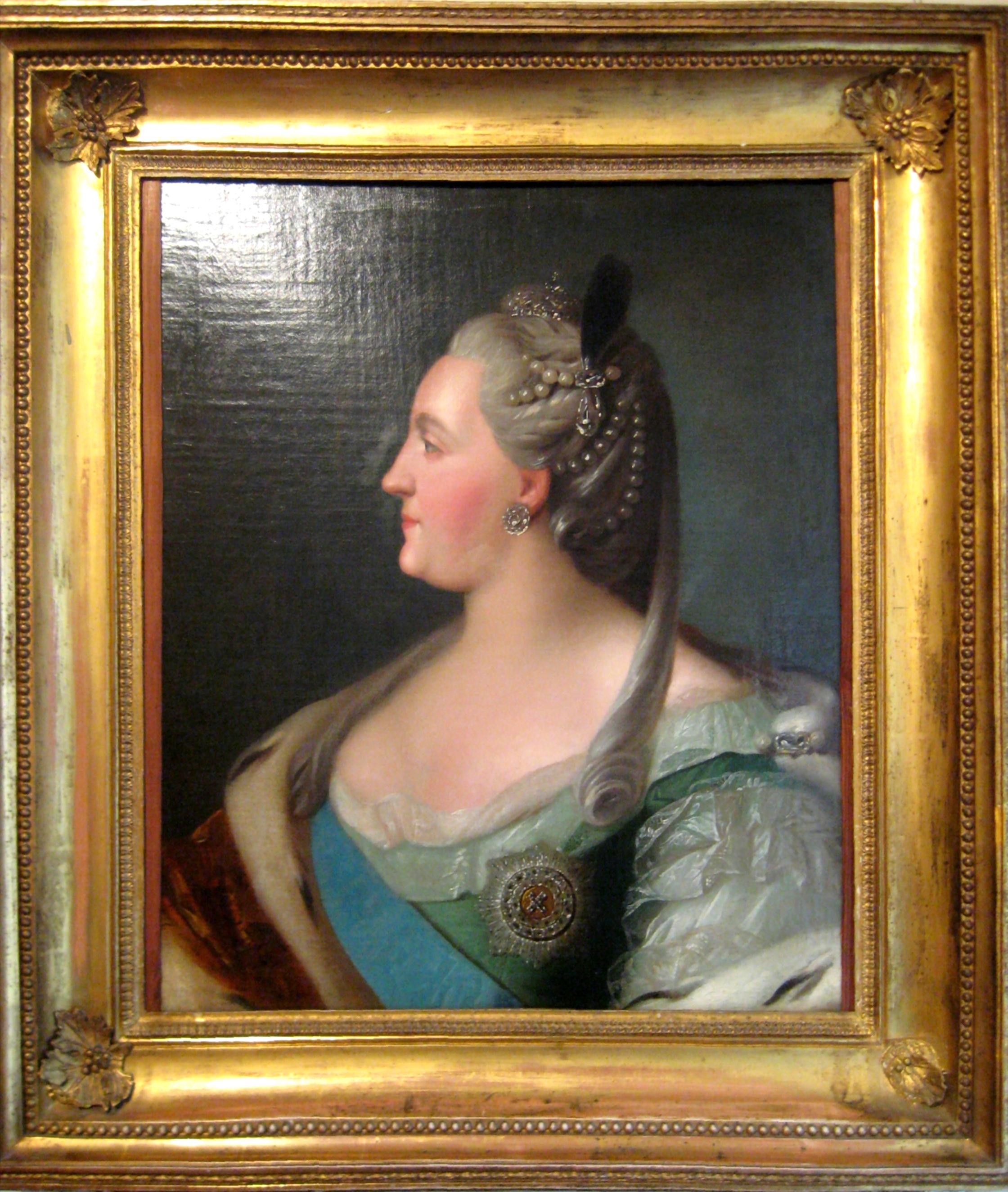 filecatherine ii profile portrait tropinin museum framejpg - Museum Frames