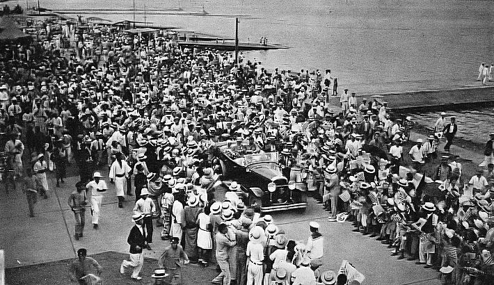 Charles Lindbergh and his wife visit to Japan.jpg