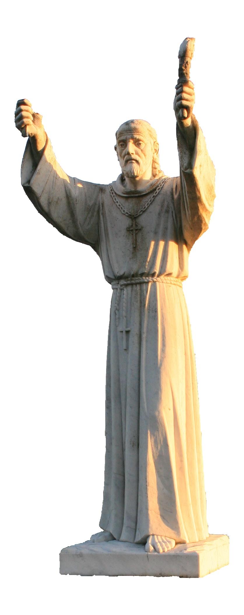 Statue av den hellige Finnian i Clonard
