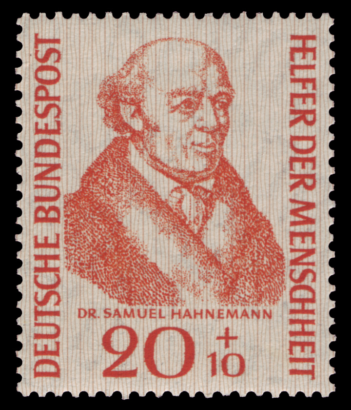 Samuel Hahnemann on a German stamp