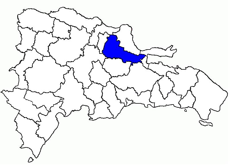Mapa de Duarte en la República Dominicana