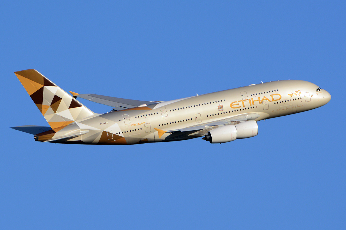 Airbus A380-800 der Etihad Airways